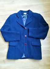 Navy Blue Wool and Cashmere Coat - Daniel D - Size 38 (12)