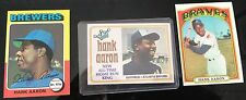 1975 Topps Hank Aaron #660 Baseball Card 1972 299 & 1974 HR KING 3 CARDS