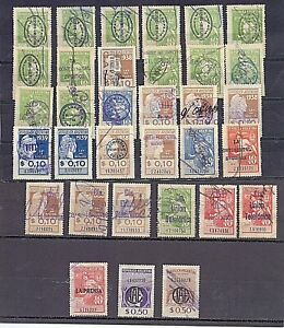 Argentina 1930- 50 postal revenue (fiscal) 67 stamps with company reprint RR!