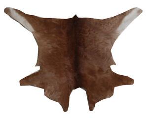 """Cowhide Rugs Calf Hide Cow Skin Rug (22""""x27"""") Brown and Beige CH8135"""