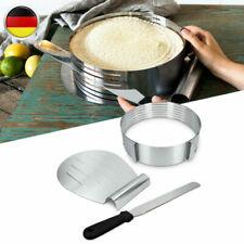 Torten Set 3tlg. aus Edelstahl Kuchen Boden Tortenheber Messer Tortenring NEW