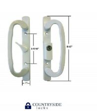Sliding Glass Patio Door Handle Set, A-Position Keyed White