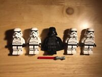 LEGO Star Wars Darth Vader + Stormtroopers Minifigures Lot- Good Condition