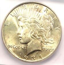 1934-D Peace Silver Dollar $1 - Certified ICG MS62 - Rare UNC BU Coin!