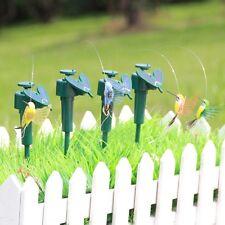 Hot Solar Powered Flying Fluttering Hummingbird Flying Birds Random Garden Decor