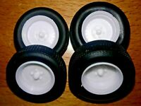 AMT STREET ROD WHEELS AND TIRES UNPAINTED SALVAGED FROM 1955 CHEVY BEL AIR