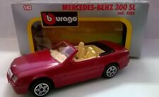 BURAGO 1:43 DIE CAST MADE IN ITALY MERCEDES-BENZ 300 SL ROSSO METAL ART 4181