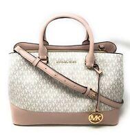Michael Kors Women's Savannah Large Leather Satchel Handbag Bag Purse  $398