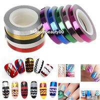 1 Roll of Waves Striping Tape Line DIY Nail Art Tips Decoration Sticker Decals