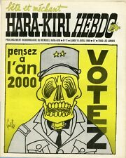 """HARA-KIRI HEBDO N°11 du 14/4/1969"" Gébé: pensez à l'an 2000 VOTEZ"