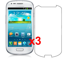3x Samsung Galaxy S3 Mini Screen Protector I8190 w/ cloth