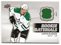 2014-15 UPPER DECK SERIES 2 CURTIS McKENZIE ROOKIE MATERIALS JERSEY RELIC (STARS