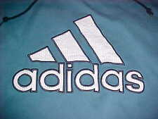 adidas 2000s The Three Bars Embroidered Logo Men Blue Pullover Hoodie 2XL