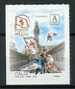 Italy Stamps 2018 MNH Bandierai Degli Uffizi Flag-Wavers Cultures 1v S/A Set