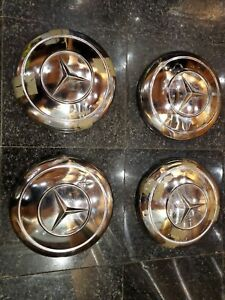 "Mercedes 190SL wheel Center Cap 9.5"" 1864010025 Set (4) 300SL 230SL 250SL W198"