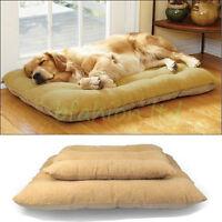 LARGE LUXURY WASHABLE WARM SOFT FLEECE PET DOG PUPPY CAT BED CUSHION PILLOW MAT