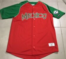 Men's Authentic MEXICO baseball Team Sz XL Jersey Serie del Caribe El Siglo