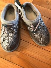 427fa80bbbe New UGG Freesia Cable Knit Slippers in Stormy Grey SZ Small 2-3 runs small