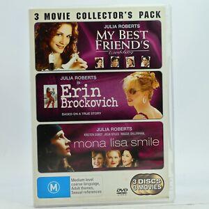 My Best Friends Wedding + Erin Brockovich + Mona Lisa DVD GC Free Tracked Post