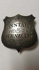WENHAM NEW HAMPSHIRE CONSTABLE BADGE 1870-80s STERLING