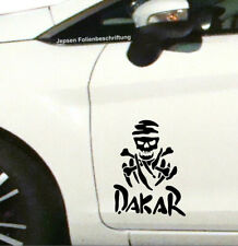 Aufkleber Rallye DAKAR S042 in 27x21cm schwarz matt - Totenkopf Auto Tattoo