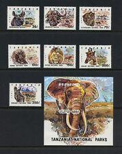 Tanzania 1993  #1185-95   fauna wild animals elephant  MNH  M253
