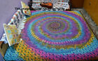 Indian Multicolor Rainbow Mandala Tapestry Wall Hanging Hippie Throw Bedsheet_2