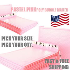 Pastel Pink Poly Bubble Mailers Padded Envelope Protective Packaging Pouch Bags