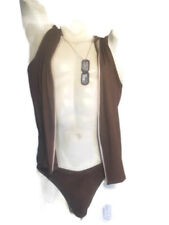 Men's  Swim  Faux Suede Bikini-Buck Skin Brown  LARGE (C06)