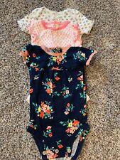 Baby Girl Infant Bodysuit Size Newborn Set Of 3