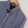 Mens Polo Ralph Lauren Blue Gingham Custom Fit Long Sleeve Shirt Size M Medium