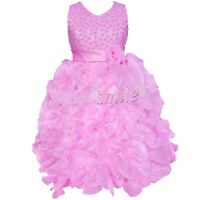 GIRLS Flower Formal Wedding Bridesmaid Party Christening Dress Age 2,3,4,5,6-10