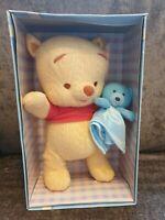 "Disney Classic Winnie The Pooh My First Pooh Plush Soft Toy Fisher-Price 8"" Box"
