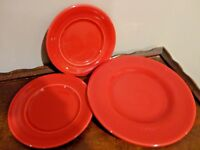 LOT 3PIECE CORSICA CHERRY RED TABLETOPS SALAD PLATE & 2 DESERT PLATE BY SYRACUSE