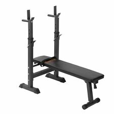 Adjustable Weight Bench Multi Gym Flat Press Incline Squat Rack