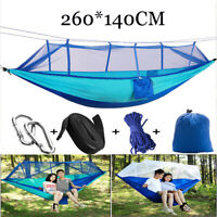 Double Hammock Tent Outdoor Camping Hanging Bed Swing Chair Anti-mosquito Net