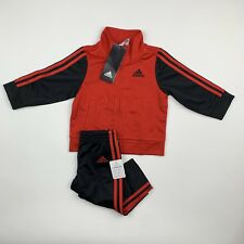 BABY BOYS: Adidas Tricot Jacket & Pants Set, Red - 9 Months AG6103