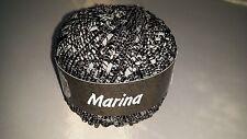 850g Lana Grossa Marina Garn Wolle schwarz 007 + Strickmagazin Filati