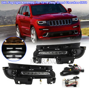 For 12-16 Jeep Grand Cherokee SRT8 DRL Daytime Running Light Fog Lamp Assembly