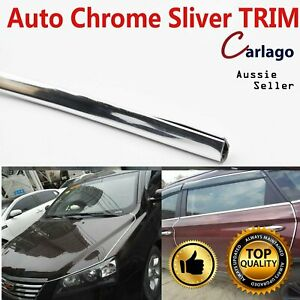 8M Chrome Moulding Trim Silver Strip Car Door Trunk Hood Edge Protector&Decor
