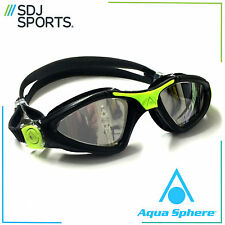 AQUA SPHERE KAYENNE MIRRORED LENS MEN'S ADULT UV ANTI-FOG SWIMMING GOGGLES