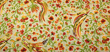 DURALEE ASHER FLAME MODERN BIRD FLORAL CURTAIN CUSHION FABRIC BY THE YARD