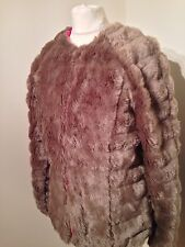 Stunning Boohoo Faux Fur Coat - Size Uk10 Eur 38 - Great Condition