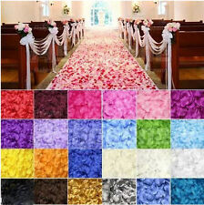 100 Silk Fabric Rose Petals Wedding Party Table Confetti Flower Sprinkles