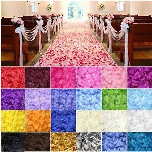100 Silk Rose Petals–Engagement Wedding Easter, Evant Table Confetti Decorations