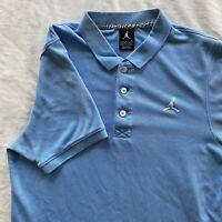 Vintage Air Jordan Jumpman Polo Shirt Size S Carolina Blue Cotton/Polyester