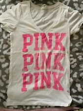 Victoria's Secret Pink Neon Tee Shirt Size Medium/Large HTF!