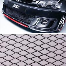 BLACK ALUMINIUM SPORT MESH GRILL CAR RACING GRILLE 100x30CM VENTS BUMPER MODIFY