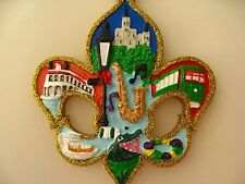 New Orleans Chrismas ORNAMENT w FREE Gift Bag Fleur De Lis Holiday favor GAT