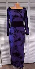 NWTD Alice's Pig Purple Bella's Batik Maxi Dress Sz US 10 UK 14 Fall Halloween